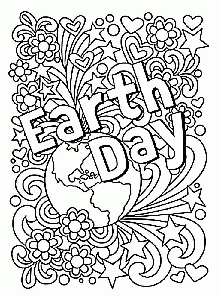Celebration Earth Day coloring page for kids, coloring ...