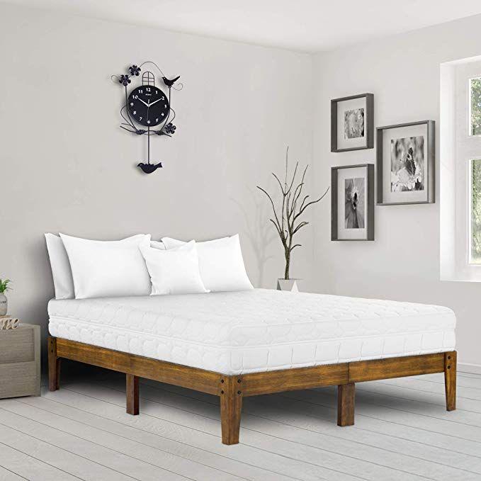 Ecos Living 14 Inch Modern Solid Wood Platform Bed Wood Bed Frame