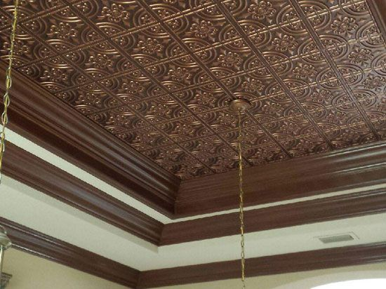 32 best Faux Copper Ceiling Tiles images on Pinterest
