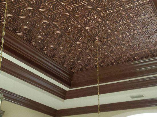 32 best Faux Copper Ceiling Tiles images on Pinterest