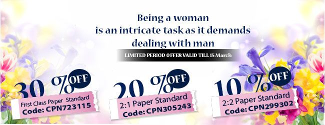 A very Happy women's day to all... on the occasion of world international women's day perfect writing announce some incredible offers with discount codes on writing services.