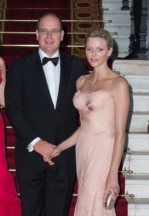 Princess Charlene leads Monaco's royal family at the Love Ball in Monte Carlo