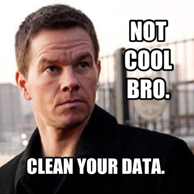 Image result for clean data meme