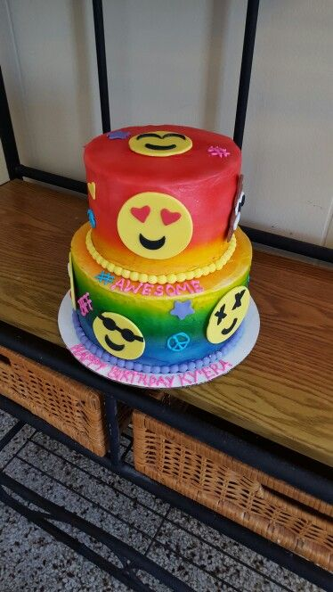 My daughter emoji birthday cake