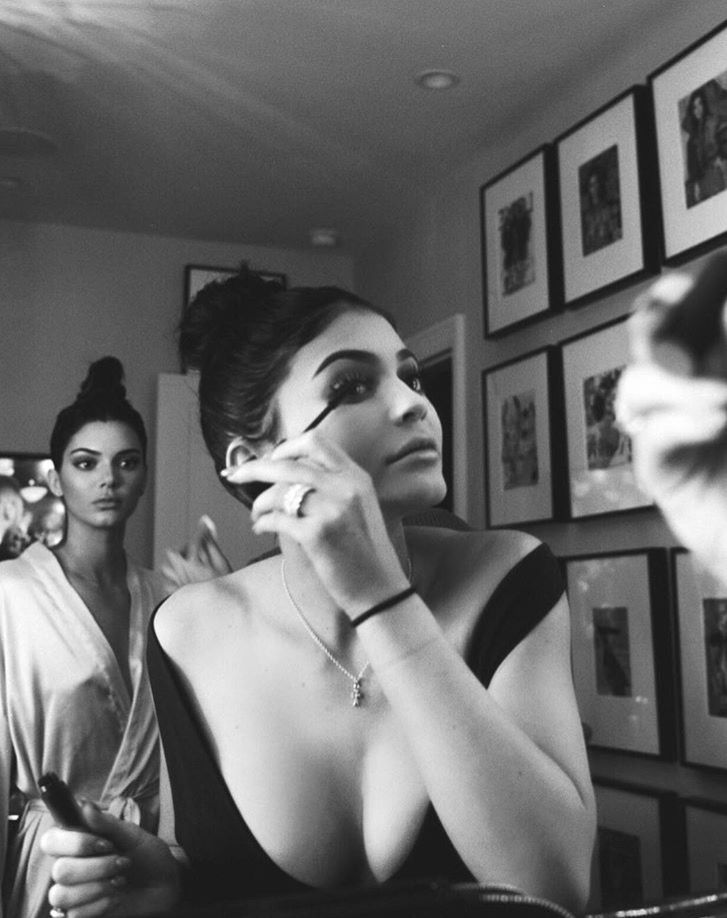 Kendall and Kylie Jenner getting glam - celebrity style
