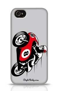 Racing Motorbike Apple iPhone 4 Phone Case