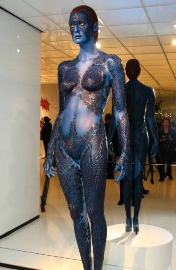 Mystique Cosplay...If I looked like that, I would totally do that.