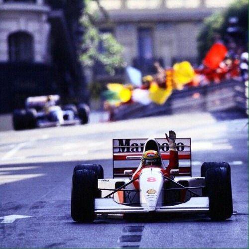 Ayrton Senna (McLaren-Ford V8, MP4/8). Winner, Monaco GP, Monte Carlo, 1993. #F1