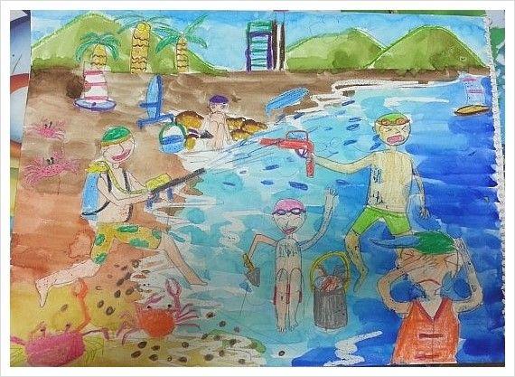 [부산방문미술] 방문교육  명문미술 사하구지사 초등 미술작품
