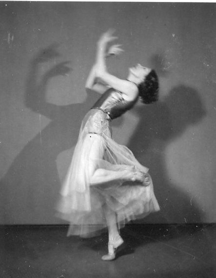 My grandmother Nora Liina performing probably in early 1930-s. She studied in Essen with Kurt Jooss, later in Paris and gave performances in both France and Estonia.