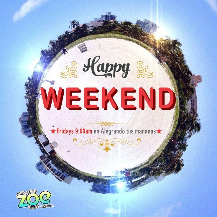 Seguimos este 2018 con HAPPY WEEKEND!  el segmento de variedades, música edificante, capsulas, una guía de actividades semanales y entrevistas a cristianos con testimonios impactantes.  Se transmite todos los viernes a las 9:00 am Hora Miami por Radio Zoe 1430am o  www.radiozoe1430.com Radio Zoe