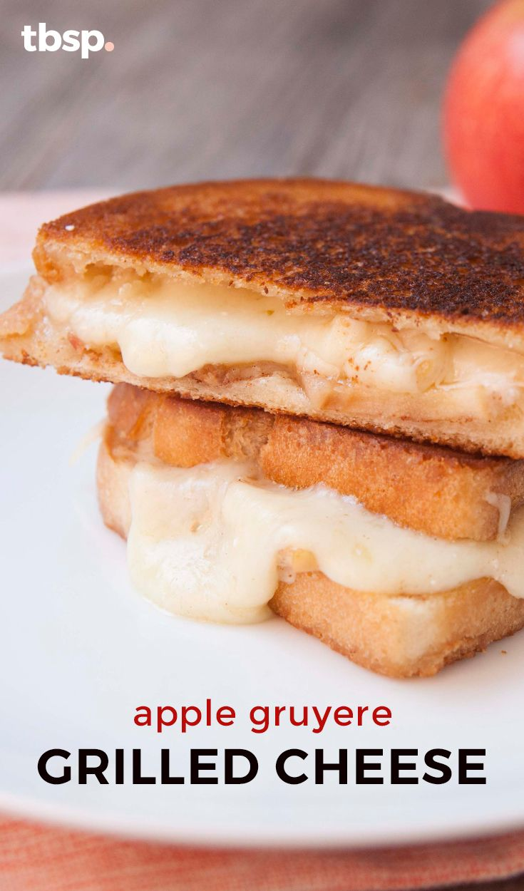 ... apples, cinnamon and Gruyere cheese, this sandwich can't be beat