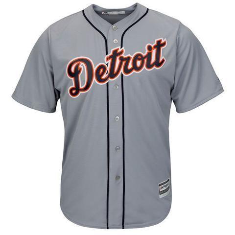 MLB Detroit Tigers Gray Road Cool Base Jersey