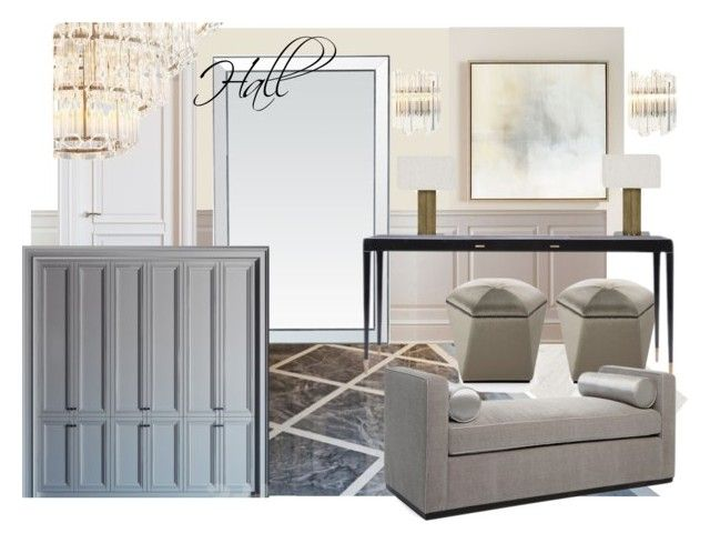 hall zr by naala-art on Polyvore featuring polyvore, interior, interiors, interior design, home, home decor, interior decorating, John-Richard and Mistral