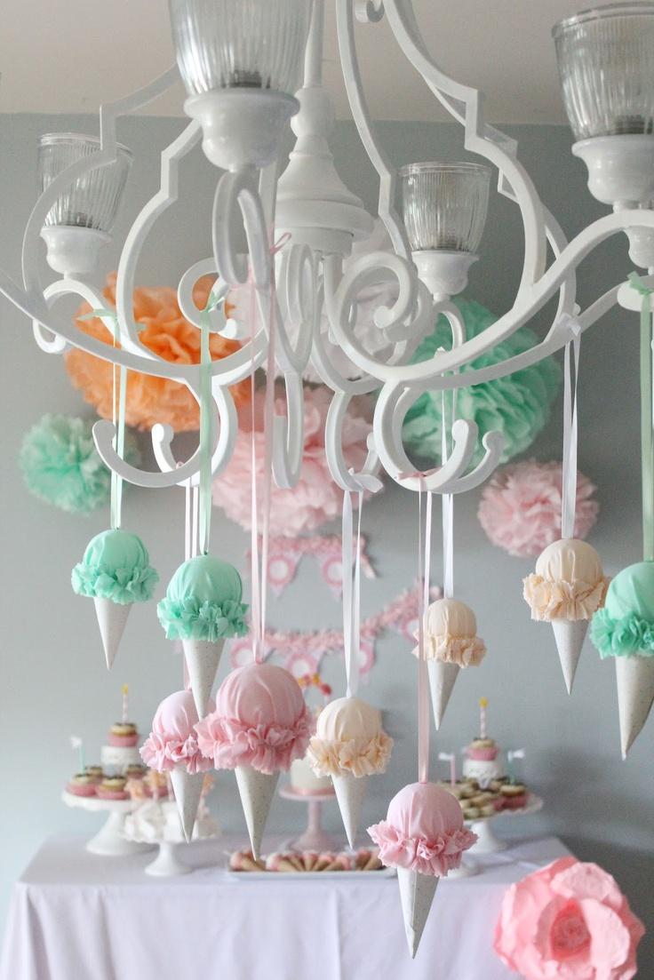 Ice Cream Birthday Party: Party deco idea