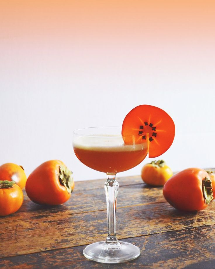 Bourbon Persimmon Amaretto Sour — Drinking with Chickens