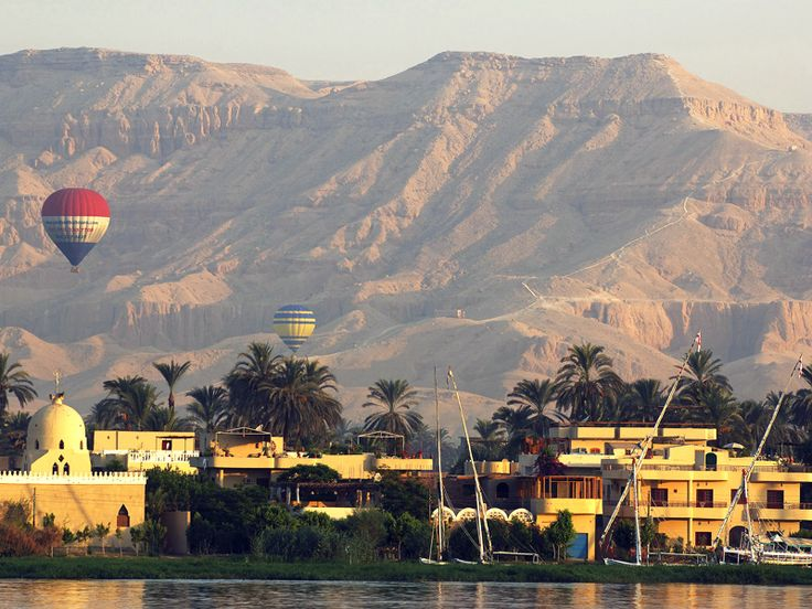 Hot air balloon ride over Luxor, Egypt!