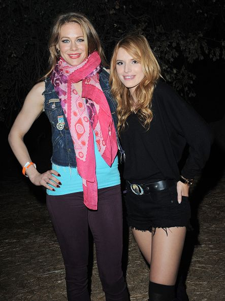 Maitland Ward and  Bella Thorne arrive for the Los Angeles Haunted Hayride held at Griffith Park on October 9, 2014 in Los Angeles, California