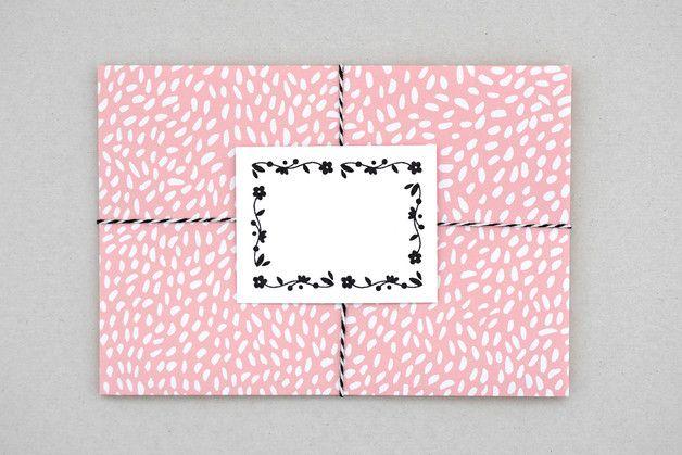 Briefumschlag | Tupfen 6 Umschläge | DIN C6 | Grußkartenformat  Design: © 2016 marga.marina