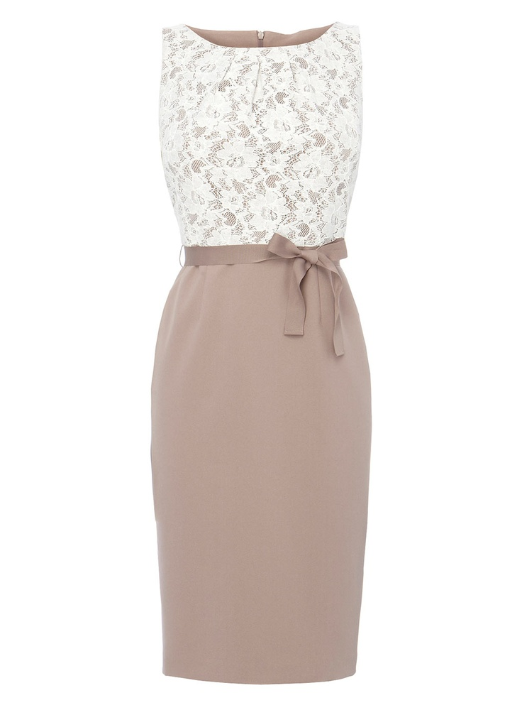 Mocha/Lace Shift Dress - BHS £39.99