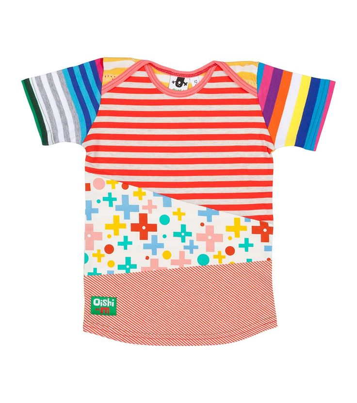 Rainbow Cake S/S Tri T Shirt, Oishi-m Clothing for kids, Hi Summer 2015, www.oishi-m.com