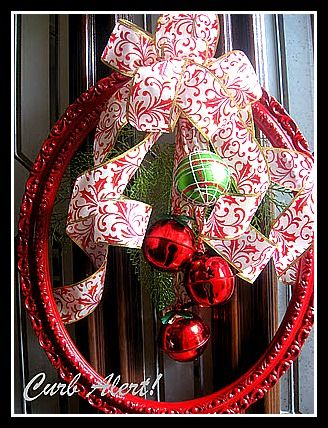 picture frame Christmas wreath - got the frame, now I need to get it made!