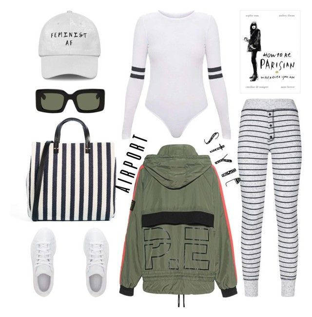 """Airport style"" by thestyleartisan ❤ liked on Polyvore featuring Sundry, Clare V., raen, adidas, P.E Nation and airportstyle"