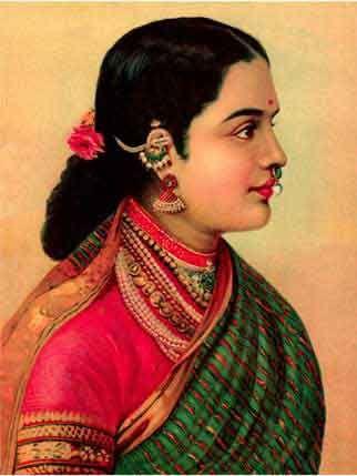 Raja Ravi Varma, Lady with Jewels