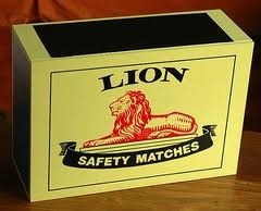 Lion Matches - South African product.