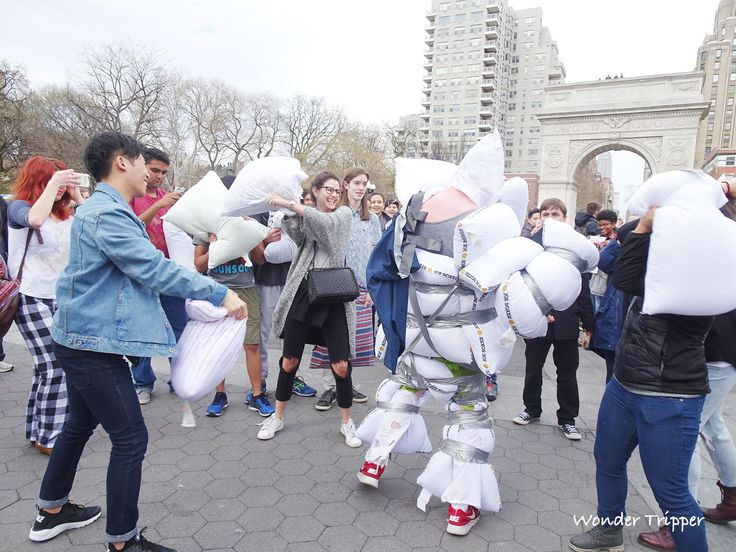 It's a Fluffy Day at NYC's International Pillow Fight