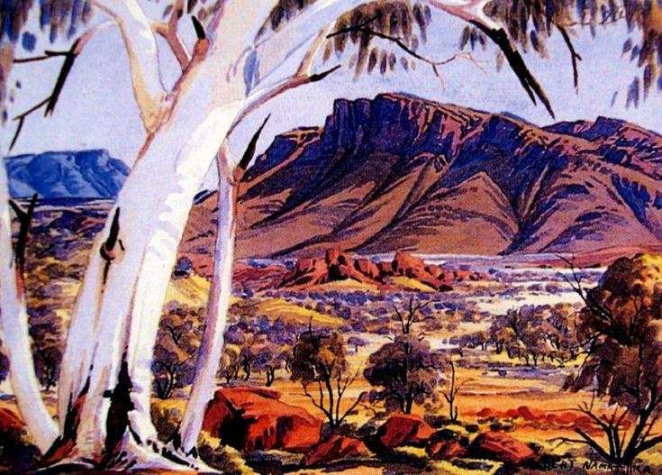 Albert Namatjira, North Ranges Looking Towards the Gillen