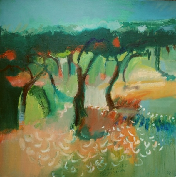 Sue England Oil on canvas   Worked from sketches done in situ in Corfu and Portugal   £250