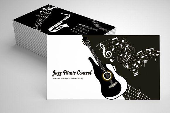 Jazz Music Business Card Template 07 Music Business Cards Music Business Business Card Template Design