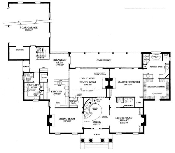 Colonial plantation southern house plan 86274 house for Plantation floor plan