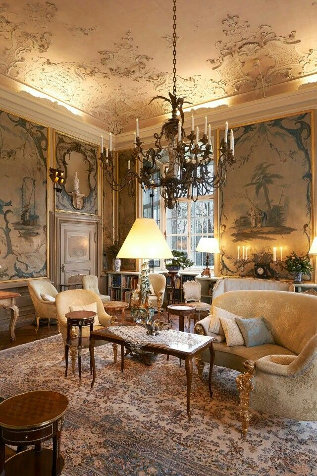 Spectacular rococo setting of Chanel's Metier show