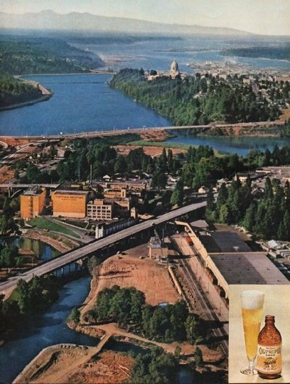"""1962 OLYMPIA BEER vintage magazine advertisement """"why Tumwater"""" ~ why Tumwater? - Visitors are frequently surprised to find one of America's largest breweries in the little town of Tumwater, Washington. Why here? Why not closer to the huge ..."""