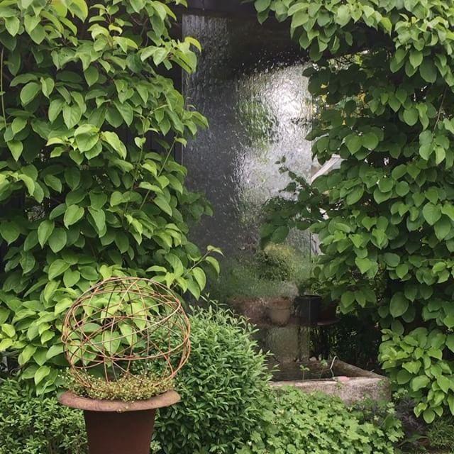 Solen kommer och går idag, perfekt trädgårdsväder./ Perfekt weather for garden time today. #garden #trädgård #garten #have #hage #waterfall #vattenfall #vatteniträdgården #godastundertokigaideer #gardendesign #trädgårdsdesign #pergola #pergo #kiwi #klätterväxt