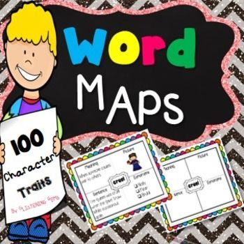 Character Traits - Character Trait Word Map pack, perfect to use when undertaking a unit on character traits. 100 character traits word maps graphis organizers are included in this pack. The templates are bright and colorful and are great to use when students are learning all about character traits, vocabulary, synonyms and definitions of words.