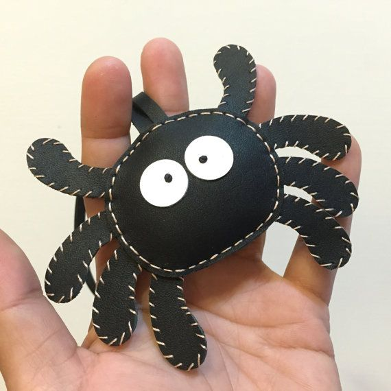 Small size  Munster the Spider cowhide leather by leatherprince