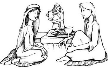 100 ideas to try about marthe et marie mary and martha for Mary and martha coloring page