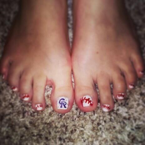colorado rockies baseball toes