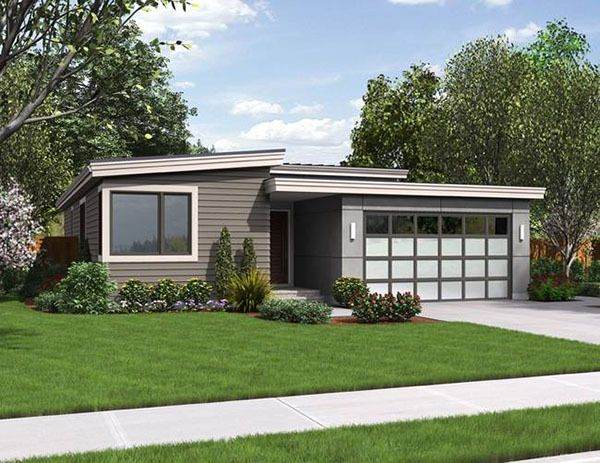 Narrow Contemporary Home Designed For Efficiency: With The Rising Cost Of  Land, House Plans