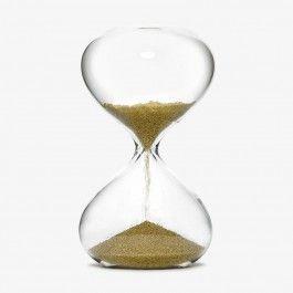 Reloj de arena dorado
