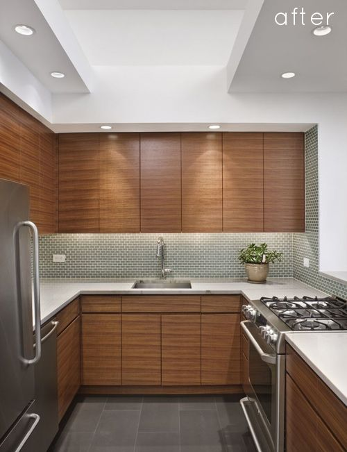 Great reno -- the kitchen is small but still has lots of counter space!