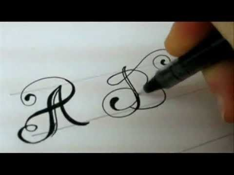 Fancy Letters - How To Design Your Own Swirled Letters - calligraphy lettering style with pointed pen