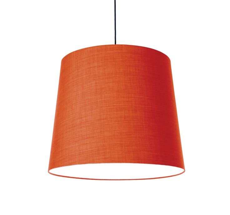 KongFAB acoustic textile pendant with Remix 2 from Kvadrat - orange 543