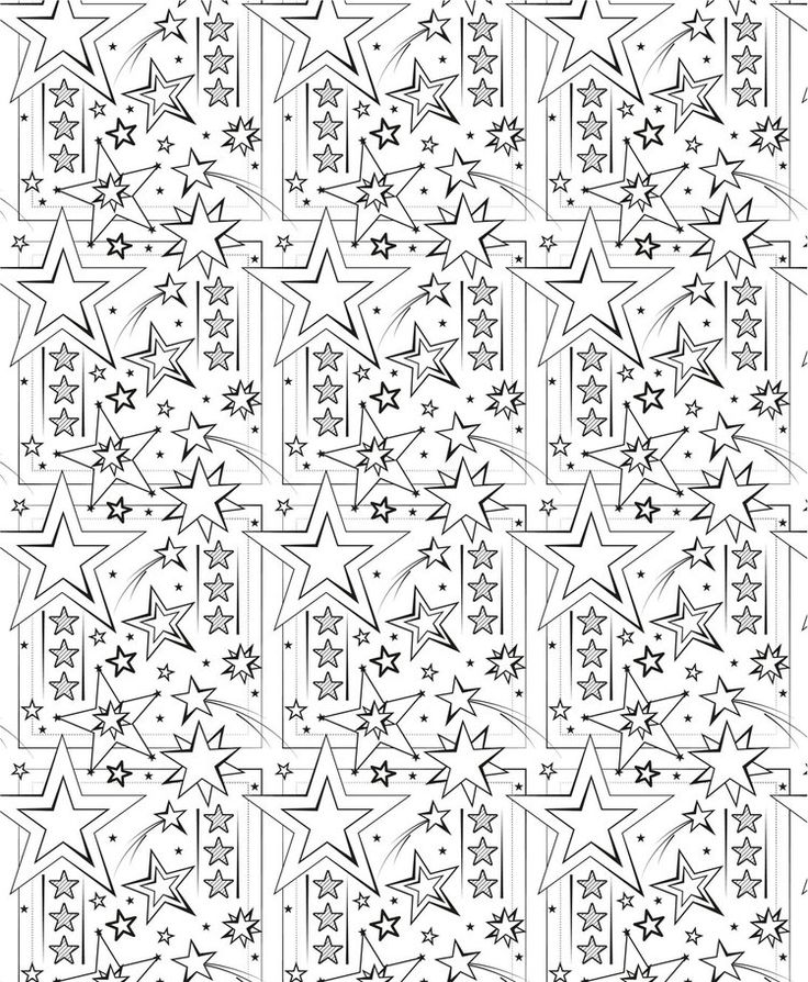 Star Pattern illustration for Colour.In magazine, by Louise Brigenshaw