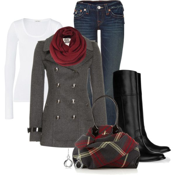 """""""A chill in the air"""" by happygirljlc on Polyvore - love those boots!!"""