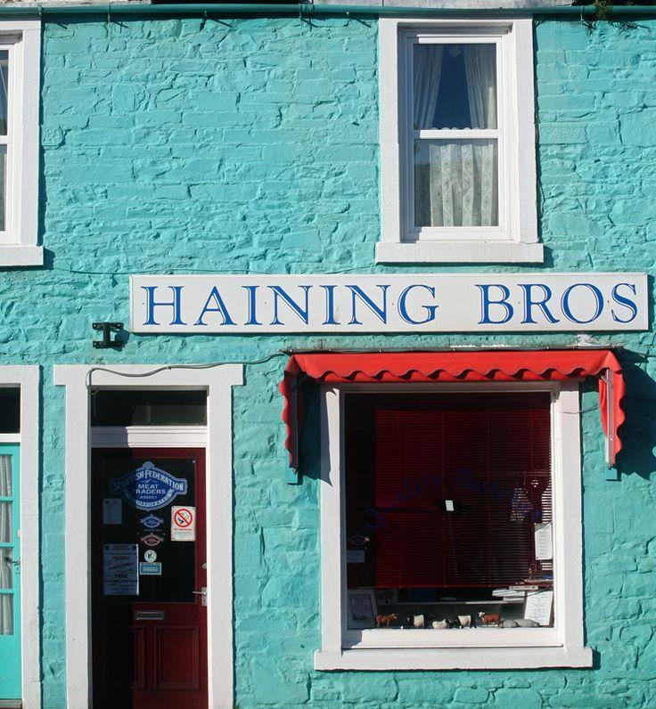 Haining Bros. storefront, St Mary Street, Kirkcudbright, Scotland.
