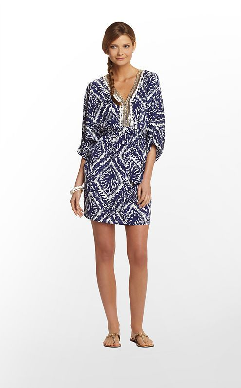 Wilda Dress in Bright Navy Reef Madness $238 (w/o 1/19/13) #lillypulitzer #fashion #style